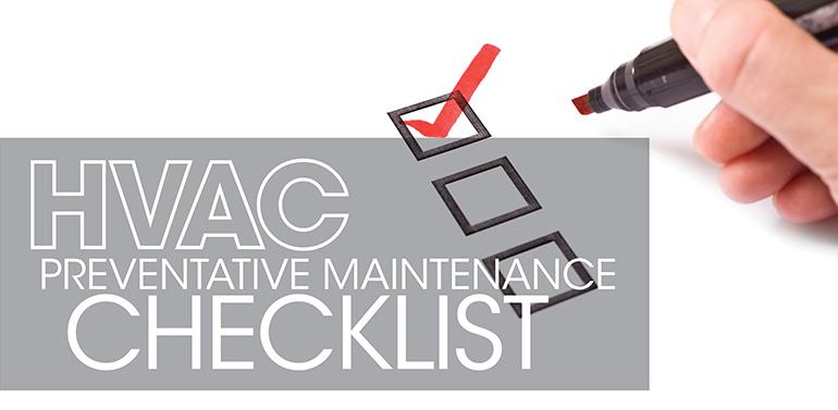 hvac pm checklist