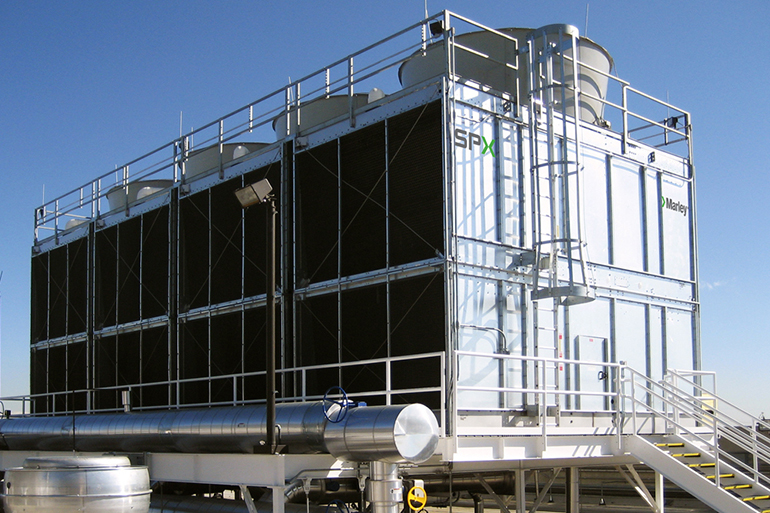 Commercial HVAC Installation - SPX Marley Cooling Tower